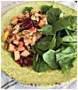 superfood salad,plant based protein salad,apple salad