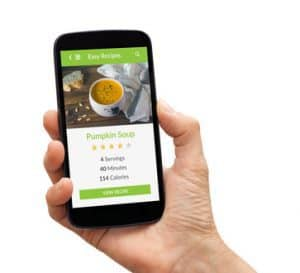 smart phone recipe app,vegan recipe app