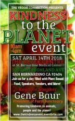 Kindness to the Planet vegan event,vegan conference featuring Gene Baur,plant based event featuring Gina Bonanno Lemos
