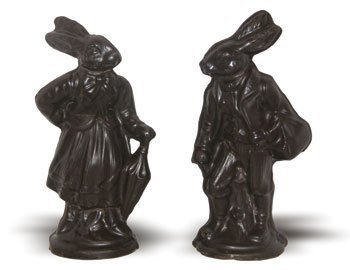 Vegan Edwardian Chocolate Rabbits