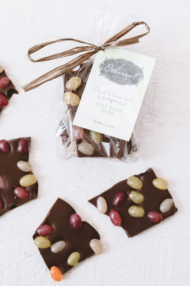 Ethereal Confections vegan chocolate jelly bean bark