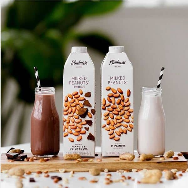 Elmhurst vegan and dairy-free peanut milk