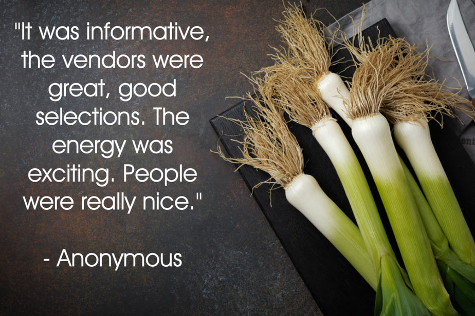 Second anonymous testimonial for your plant based guide conference