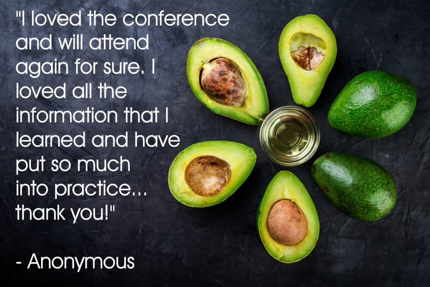 Anonymous testimonial number 3 for your plant based guide conference