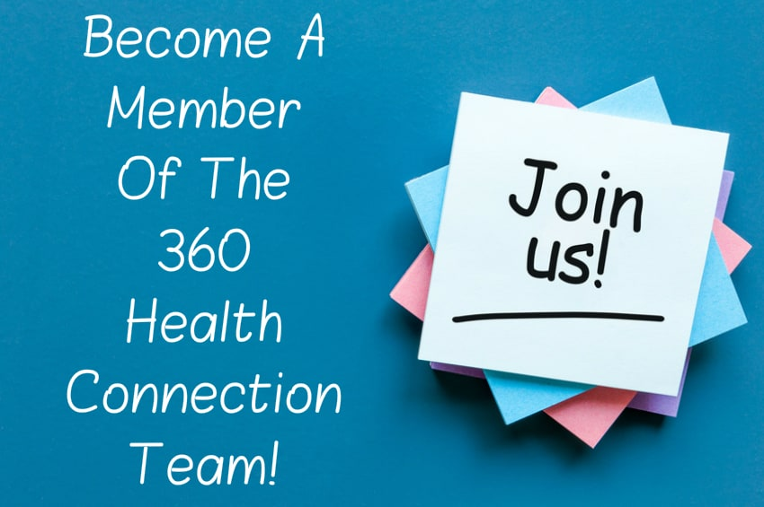 Become a team member of 360 Health Connection and contributing writer to the 360 Health Connection website - Write about health wellness fitness alternative medicine and vegan nutrition for 360 Health Connection
