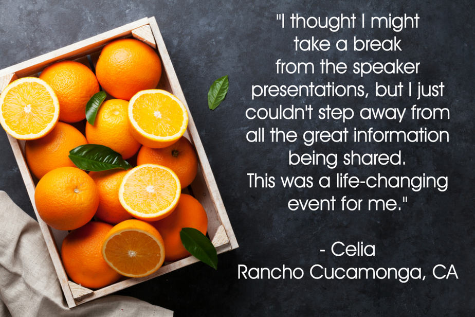 Celias testimonial for your plant based guide conference