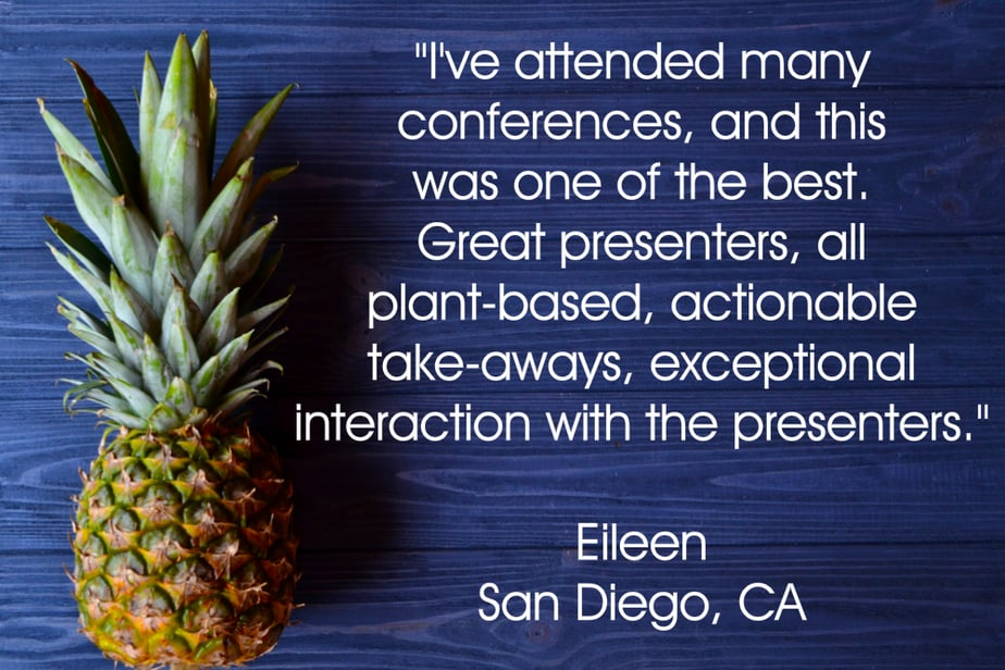 Eileen testimonial for your plant based guide conference