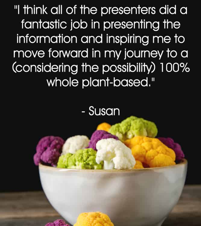 Susans testimonial for your plant based guide conference
